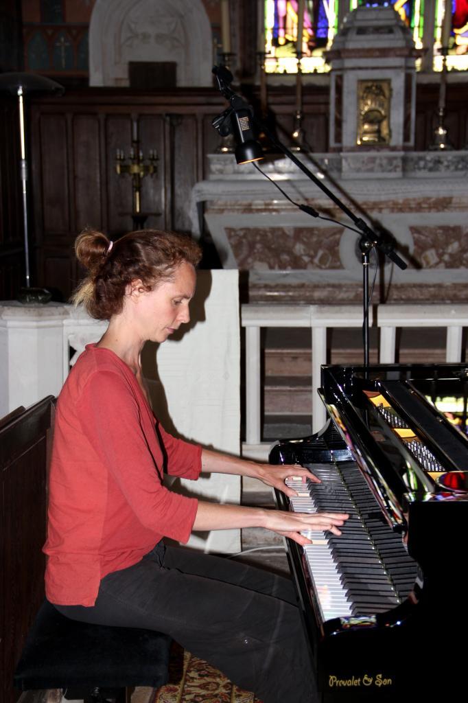 Juliette Mazerand en répétition