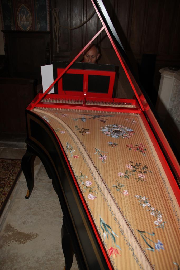 Olivier Pesenti à son clavecin