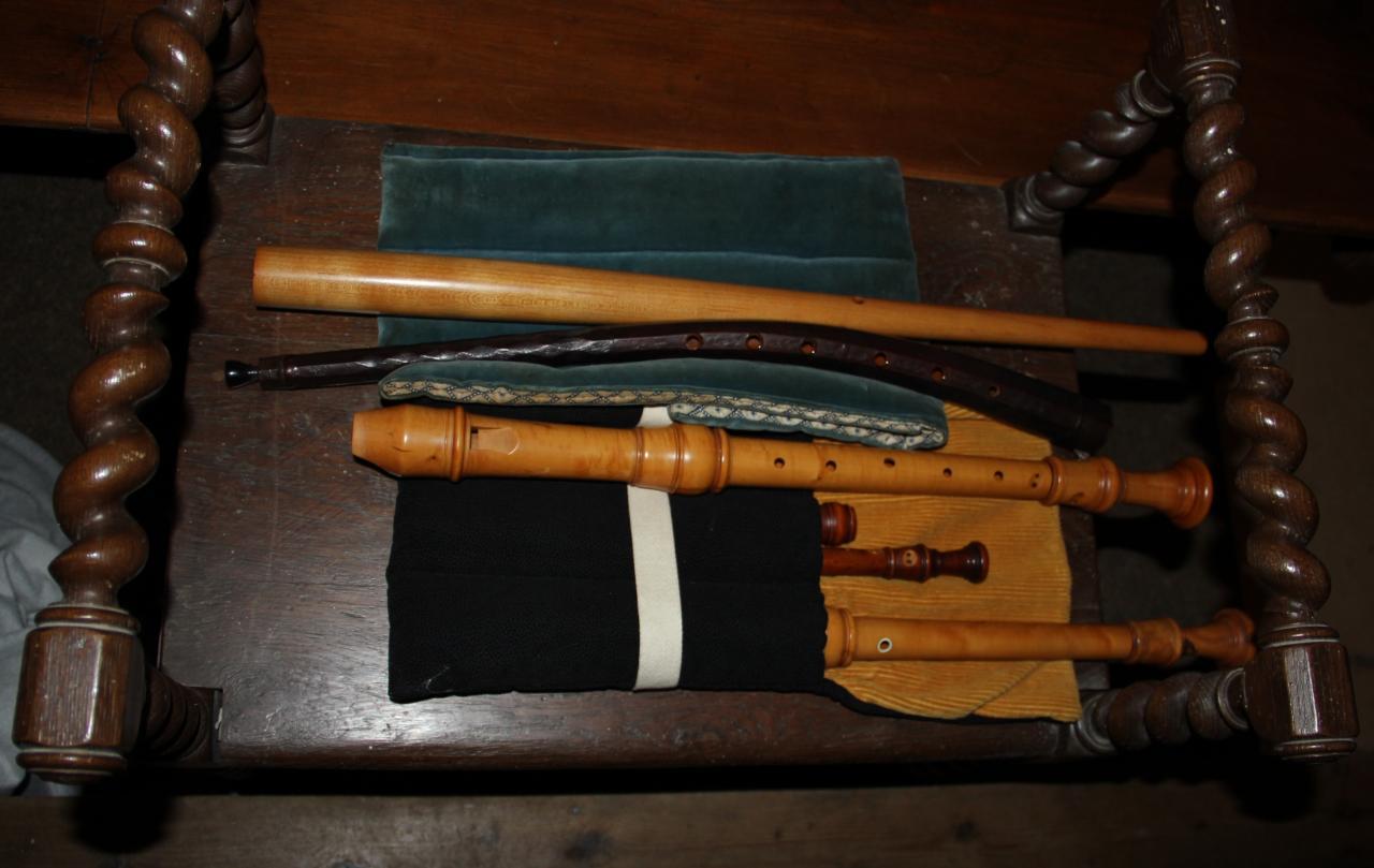 Flûtes à bec et cornets à bouquins d'Eva Godard